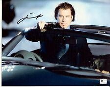 JOHN TRAVOLTA Signed Sexy Cool Tough Guy with Gun in Car 8x10 Photo Swordfish GA