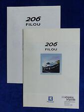 Peugeot 206 Filou - Prospekt + Preisliste Brochure 03.2001