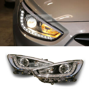 OEM Front LED Head Light Lamp RH LH Assy For HYUNDAI 2011-17 Verna Accent Sedan