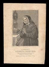 santino incisione 1800 B.ELISABETTA CANORI MORA