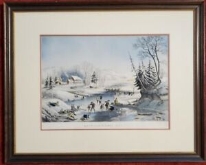 "Currier & Ives ""Morning American Winter Scenes"", 16.75″ x 20.75″, PA5598"