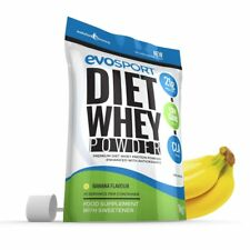 EvoSport Diet Whey High Protein Banana 1kg CLA & Green Tea Evolution Slimming