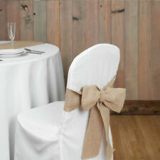 Chair Bow Sashes Natural Colour for Special Events LA Linen Brand New 10 Pack