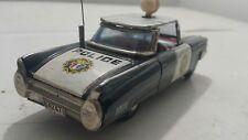 VINTAGE CADILLAC POLICE CAR 1950 TIN TOY VEHICLE FRICTION ICHIKO JAPAN 64247