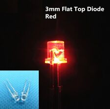500PCS F3 3MM FLAT TOP LED RED SUPER BRIGHT Wide Angle Leds Lamps NEW CA