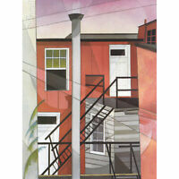 Demuth Modern Conveniences Painting XL Canvas Art Print