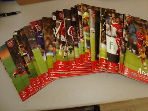 Full set of Arsenal home programmes 2008-09 - 32 programmes in all