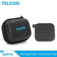 TELESIN Mini Portable Protective Bag Case + Lens Cover Cap for GoPro Hero 7 6 5