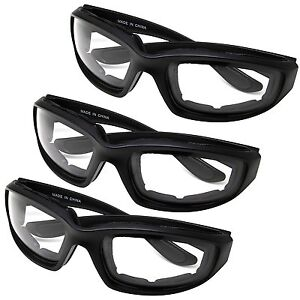 3 PAIR MOTORCYCLE RIDING GLASSES CLEAR FOR HARLEY DAVIDSON ALL WEATHER