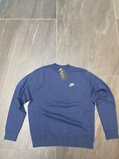 Nike Sportswear Club Crew Sweatshirt Marine Herren Medium Brandneu bv2662-410