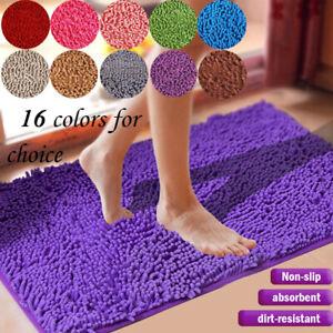 Floor Door Bath Mat Rug Non-Slip Absorbent Shaggy Bathroom Rugs Shower Carpet US