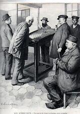 1903  --  AUX QUINZE VINGTS  UNE PARTIE DE BILLARD HOLLANDAIS ENTRE AVEUGLES