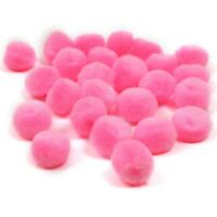 Pompons Pompon 25mm 20stk Bommel Nähen Tilda Basteln Borte Pink Rund BEST DEK94