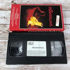 THE CHANGELING VHS 80'S HORROR HAUNTED HOUSE GEORGE C. SCOTT TRISH VAN DEVERE