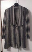 Strickjacke Samoon Gr 48 Wolle grau schwarz Jacke Cardigan  XXL