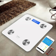 Smart Bluetooth Body Fat Scale Digital Bathroom Wireless Weight Scale - White