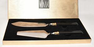 Mikasa Sweet Occasions 2pc Cake Knife Server Set CPW14 Ebony Original Box Japan