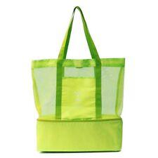 Cabas sac à pique-nique ou à provisions multifonctions pliable et isotherme VERT