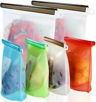 Reusable Silicone Food Storage Bags Freezer Airtight Seal Food Preservation Bags