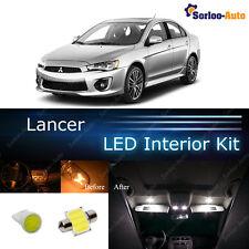 6x White COB LED Lights Interior Package Kit for 2008 - 2017 Mitsubishi Lancer
