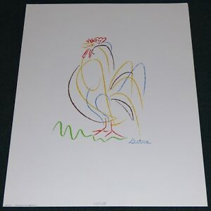 PABLO PICASSO ROOSTER 1943 POSTER PRINT AARON ASHLEY INC NEW YORK CITY ABSTRACT