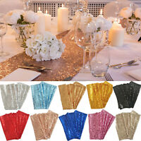 Vintage Gold Silver Sparkly Table Runners For Christmas Wedding Party Decoration