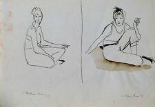 SMOKER original life drawing woman portrait cigarette Marlboro art gift BELAUBRE
