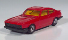 "Vintage Corgi Ford Capri 3.0S 3"" Die Cast Scale Model Red Yellow Windows"