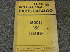 International Harvester Ih 150 Crawler Track Loader Parts Catalog Manual Book