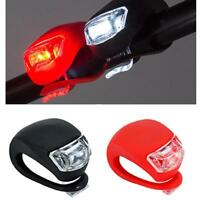 2x Safety Bicycle Bike Cycling Silicone LED Head Front Rear Wheel Light Lamp JS