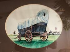 "Guerra Watercolor Cowboys and Wagon , Signed Frame 21"" x 18"". Painting 14"" x 11"