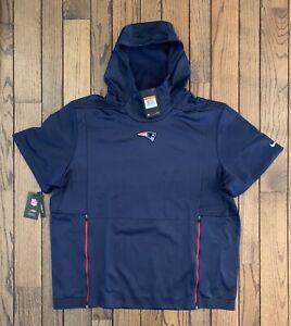 Nike New England Patriots Dri-Fit Therma Hoodie Short Sleeve 2XL Bill Belichick