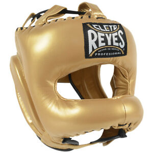 Cleto Reyes Traditional Leather Boxing Headgear - Solid Gold