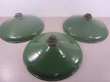 Qt. 3  Vintage Green/White Porcelain Enamel Gas Station Barn Door Lights