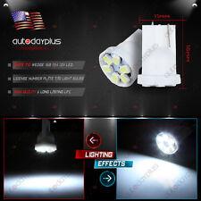 2pcs T10 194 LED Car Instrument Dash Light Side Wedge License Bulbs Super White
