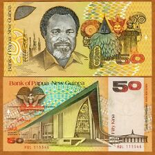 Papua New Guinea, 50 Kina, ND (1989), P-11, UNC > Scarce First