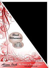 "Black Ultrasuede 28cm (11"") square"