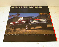 NOS 1987 Chevrolet Chevy Pickup 4 x 4 Full Color Sales Brochure Genuine GM