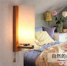 Oak Wood Frame Wall Lamp Glass Cover Light DIY Lighting Home Cafe Comfort Simple