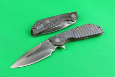 NEW All CNC D2 Blade Full TC4 TITANIUM Handle high end Folding knife DF43