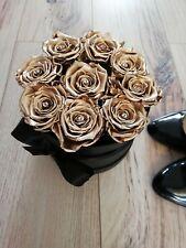 Golden Girl Rose Box - Preserved 9 Roses