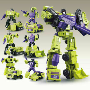 LARGE TRANSFORMERS DEVASTATOR COMBINER CONSTRUCTION TRUCK ROBOT KID KO TOY GIFTS