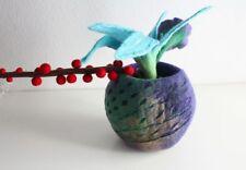 Colorful Felt Wool Flower Vase, Felt Flower, Felt Flower Basket, Felt Flower Pot