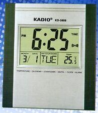 Kadio Digital Jumbo Wall Mount & Table Temperature Display Clock KD-3808