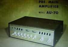 SANSUI AU-70 PRE MAIN AMP OPERATING INSTRUCTIONS INC SCHEM DIAG PRINTED ENGLISH