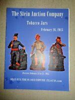The Stein Auction Company Catalog Feb 2015 TOBACCO JARS Pipes Smoking Clowns Jar