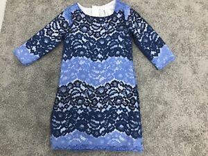 CAMILLA GIRLS BLUE LACE SHIFT DRESS AGE 6-7 YEARS