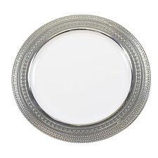 """30 x 9 """"/ 23cm bianco argento bordo Resistente Monouso Plastica piatti per cena"""