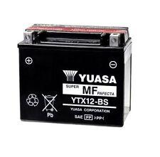 BATTERIA MOTO ORIGINALE YUASA YTX12-BS 10AH PER MALAGUTI Phanton Max 250 04