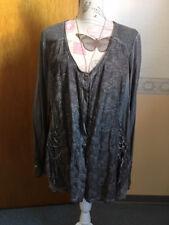 Strickjacke der Marke TREDY, grau, Größe: 48 langärmlig, mit Schnürzierung